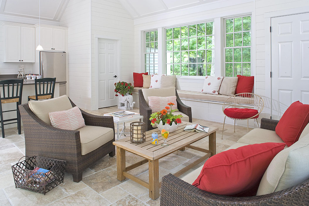 Estate Pool House - interior design project of Susan Carlson Interiors