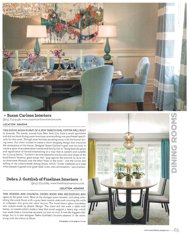 Westchester Home Magazine Spring 2016 - Best of Home Design - Dining Rooms